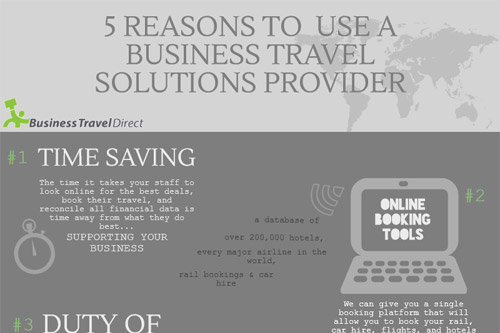 Reasons to use a Business Travel Solutions provider Infographic