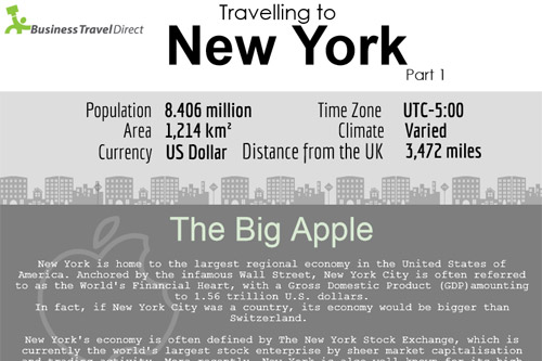 Travelling to New York Infographic